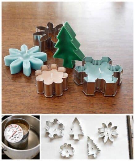 DIY Christmas votive candles