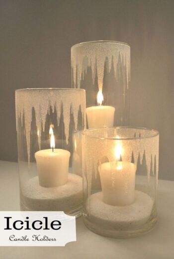DIY Winter Candle Votives