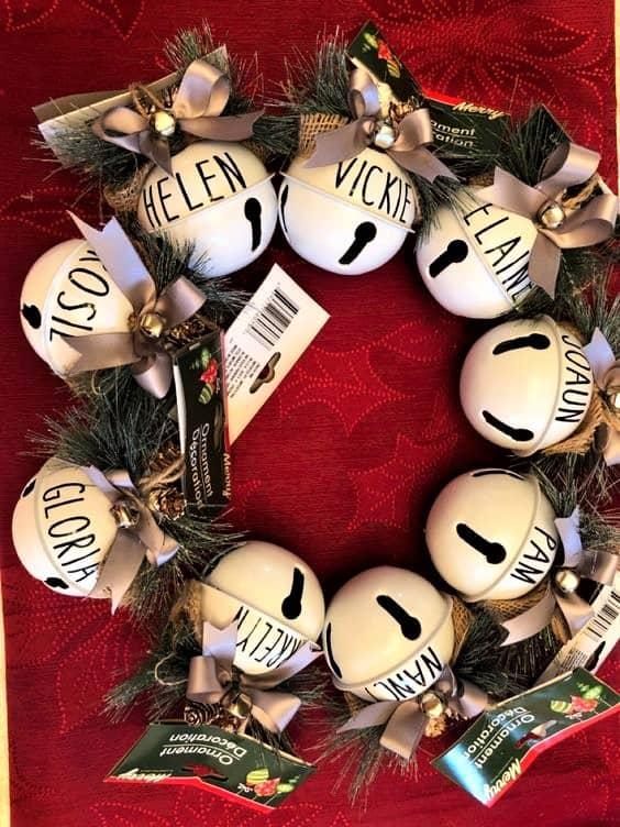 DIY Christmas Farmhouse Bell Sharpie Ornament