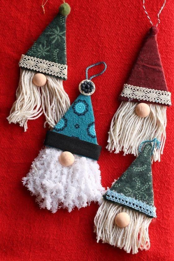 DIY Gnome Christmas ornament