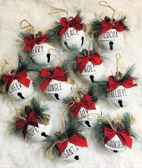 DIY Christmas Ornament written with Sharpie