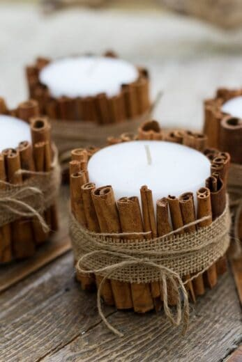 Cinnamon Stick Candles Craft