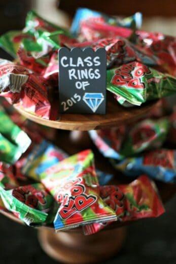 Ring Pop Graduation Party Food Idea