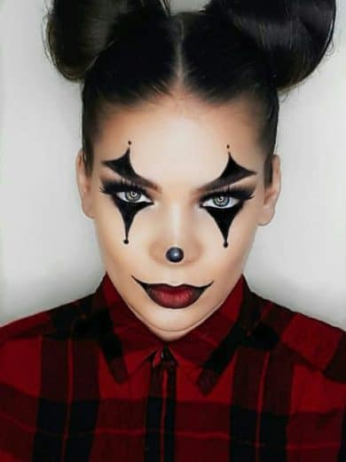 Easy Last Minute DIY Halloween Make Up, pretty, clown.
