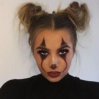 Easy Last Minute DIY Halloween Make Up, pretty, scary IT clown..