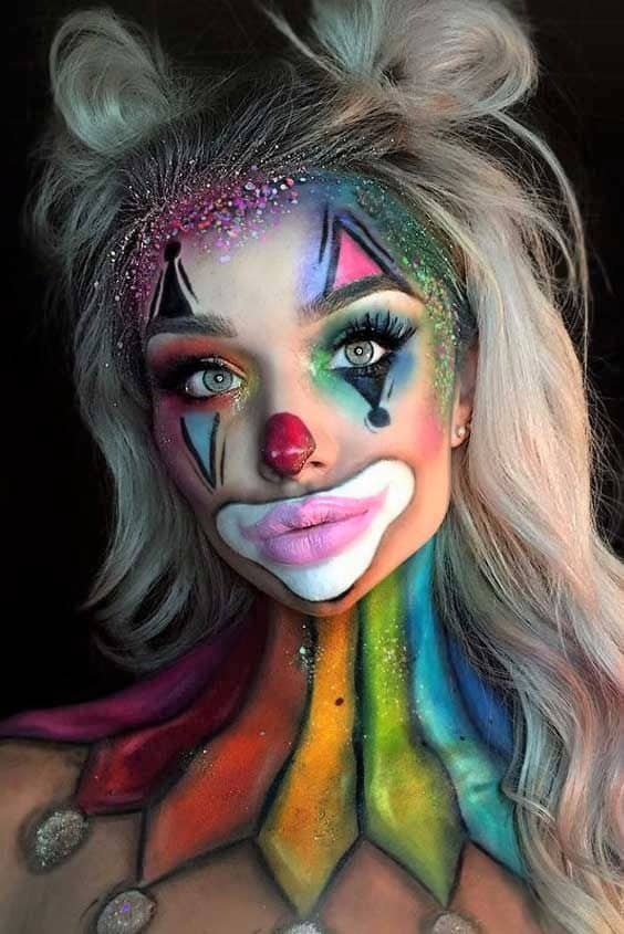 Colorful Clown Make up costume