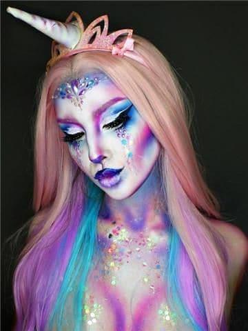 Colorful Unicorn Costume Make Up