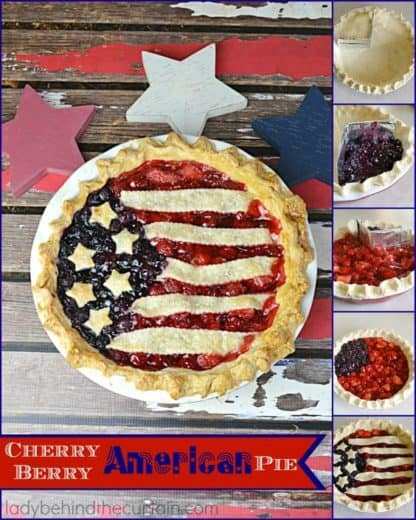 American Fruit pie. Easy DIY 4th of July party ideas for Food and decorations.