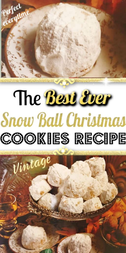 Best Ever Snowball Christmas Cookies Recipe you need to try. It's melt in your mouth perfect everytime. The only snowball recipe that the real Santa most likely ate. Easy classic cookies everyone will LOVE.