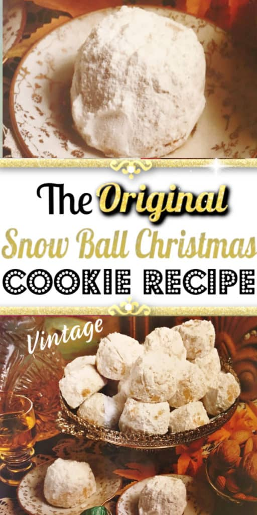 The best traditional Snow Ball Christmas Cookie Recipe that makes a great gift, unique