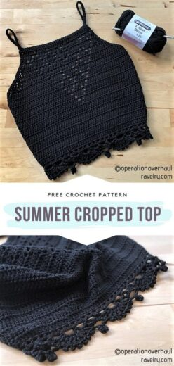 Summer Fashion Easy DIY Crochet Crop Top