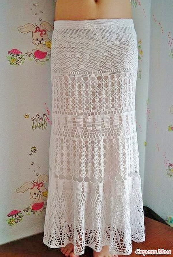7e66aaf630 DIY Crochet Boho Maxi Skirt with FREE PATTERN. Cute, trendy outfit for  Spring and