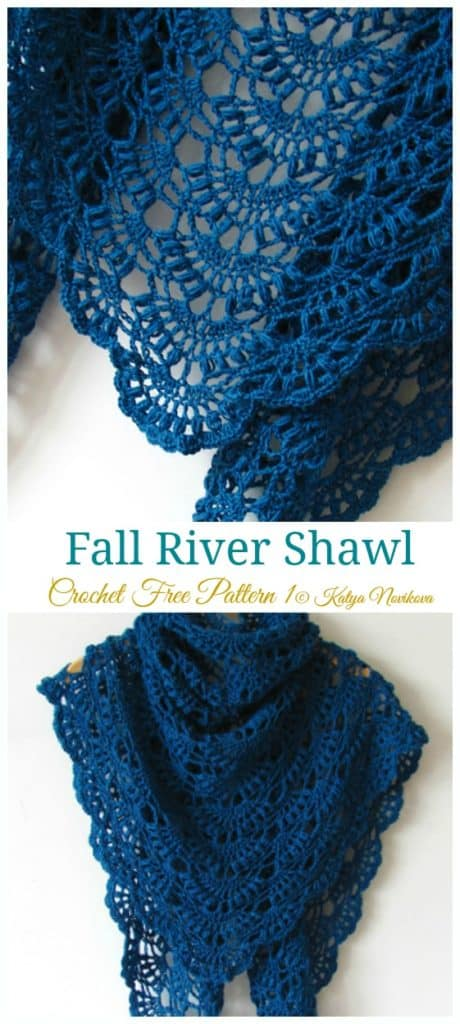 DIY Crochet Fall River Shawl with FREE PATTERN. Cute, trendy outfit for Spring, Summer. Also a great gift idea. The best free crotchet patterns and tutorials.