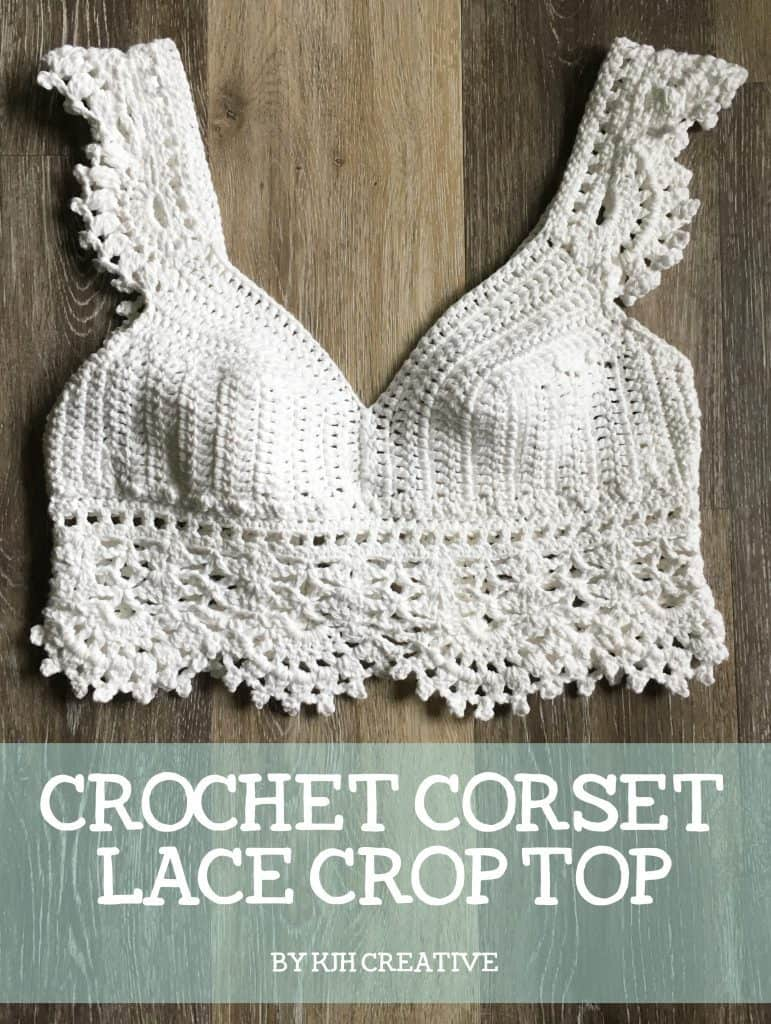 DIY Crochet Crop Top with FREE PATTERN. Fashionable and trendy outfit for Spring or Summer. Also a great gift idea. The best free crotchet patterns and tutorials.