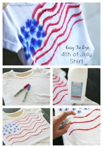Easy DIY 4th of July Patriotic T Shirts