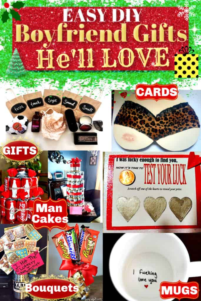 The BEST easy DIY gift ideas for boyfriend.