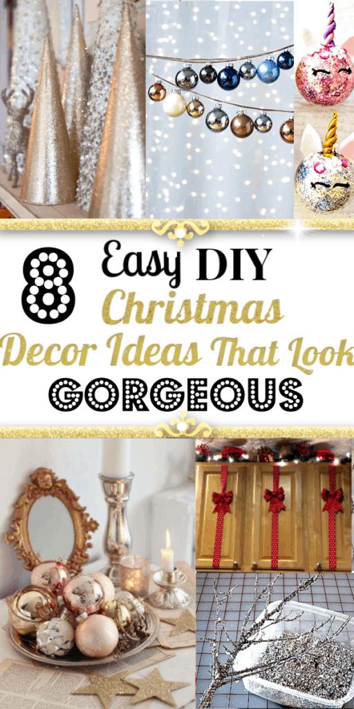 Easy DIY Christmas Decorating tips, tricks, and hacks