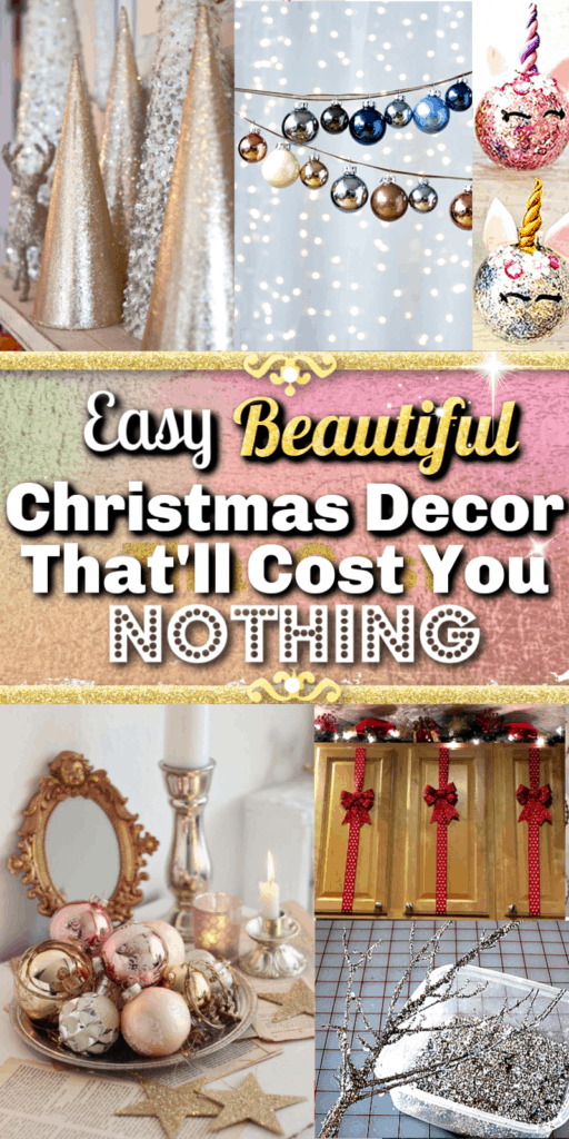 DIY Christmas Decorations that cost you nothing. Glitter / FarmHouse / Christmas crafts / Kids Christmas crafts / Christmas garland