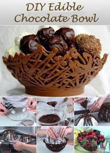 DIY Edible Chocolate Basket
