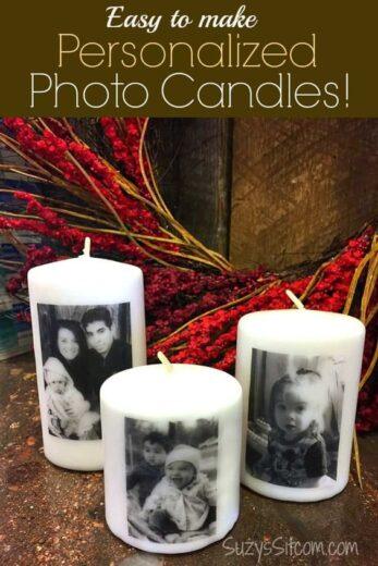 Easy DIY Graduation Party Photo Candle Centerpiece Decoration Idea