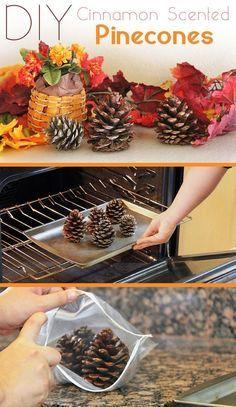 DIY Scented Pinecones/ Easy Christmas Decor Ideas