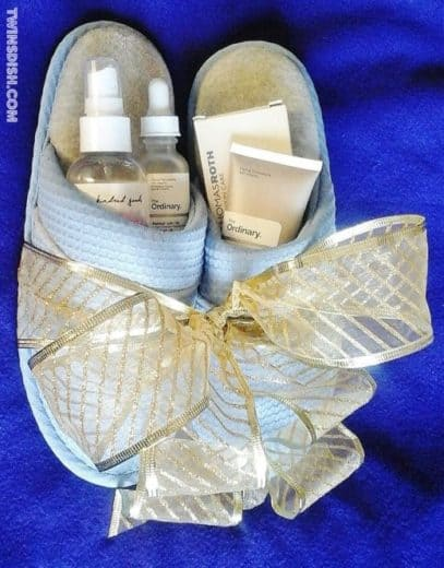 Spa Day Slippers Gift Basket Idea