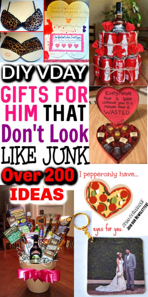 Ultimate List of DIY Valentine's Day Gifts for him he'll love. DIY Boyfriend gifts/ Last minute gift ideas/ Crafts