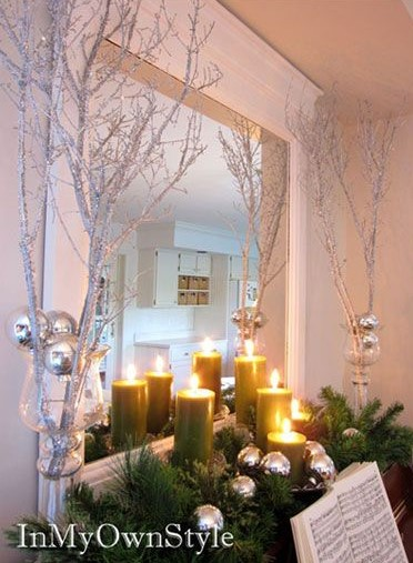 Amazing Farmhouse Glam Christmas Decor Ideas that'll take your breath away. Easy elegant Christmas or winter decoration, craft, or wedding centerpiece. Easy Budget decor ideas for the home or party. Holiday decor and DIY projects. #DIY #MantleDecorIdea #wedding #Christmas