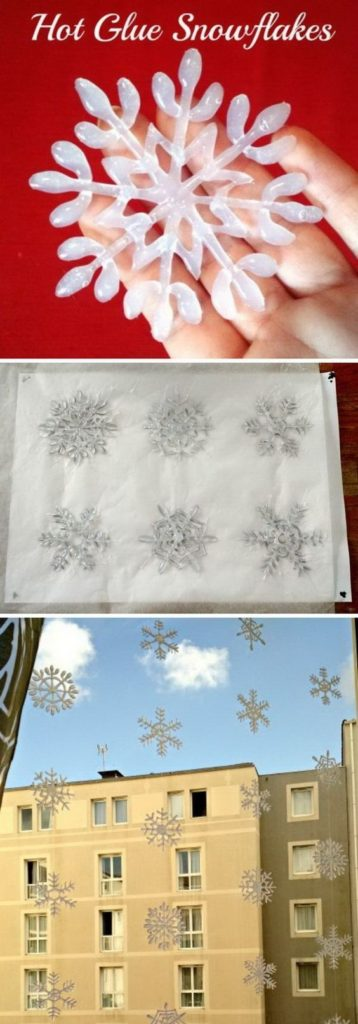Easy DIY Snowflakes and garland. Simple yet beautiful dollar store craft idea anyone can make, even kids.