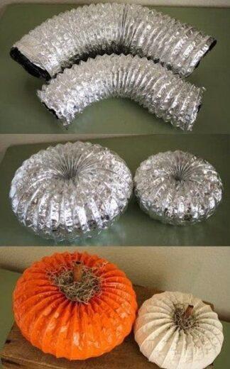 Dryer Vent Pumpkins Fall Craft