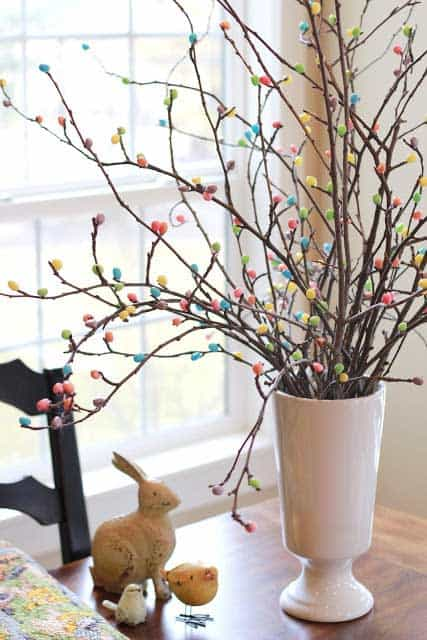 Easy DIY Easter jellybean tree craft idea. The Best Easy DIY Easter Decoration Ideas for Spring