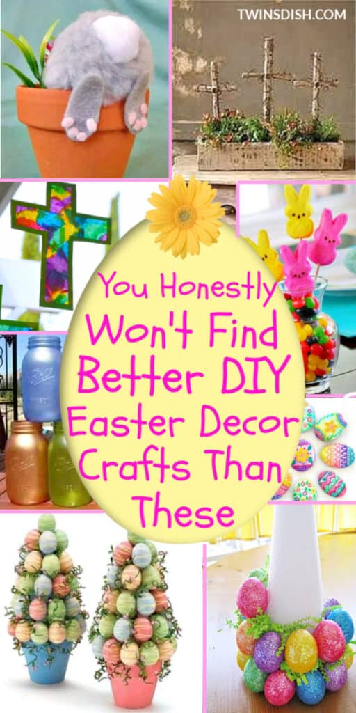 Elegant Dollar Store DIY Easter Decorations Ideas for the home, and outdoor. Includes Christian and Farmhouse crafts kids can make for the table and centerpieces. As well as basket and gift ideas #spring #Easter #Crafts #DollarStore #Decorations