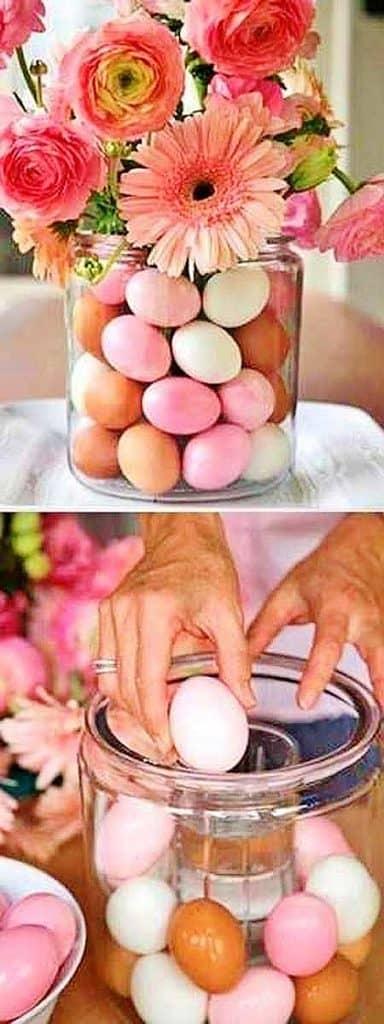 Easy DIY Easter egg vase craft idea. The Best Easy DIY Easter Decoration Ideas.
