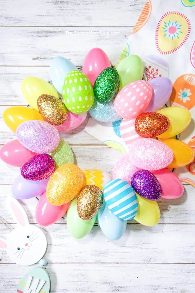Easter Kids Wreath Easy DIY Dollar Store Craft Decoration kids can make