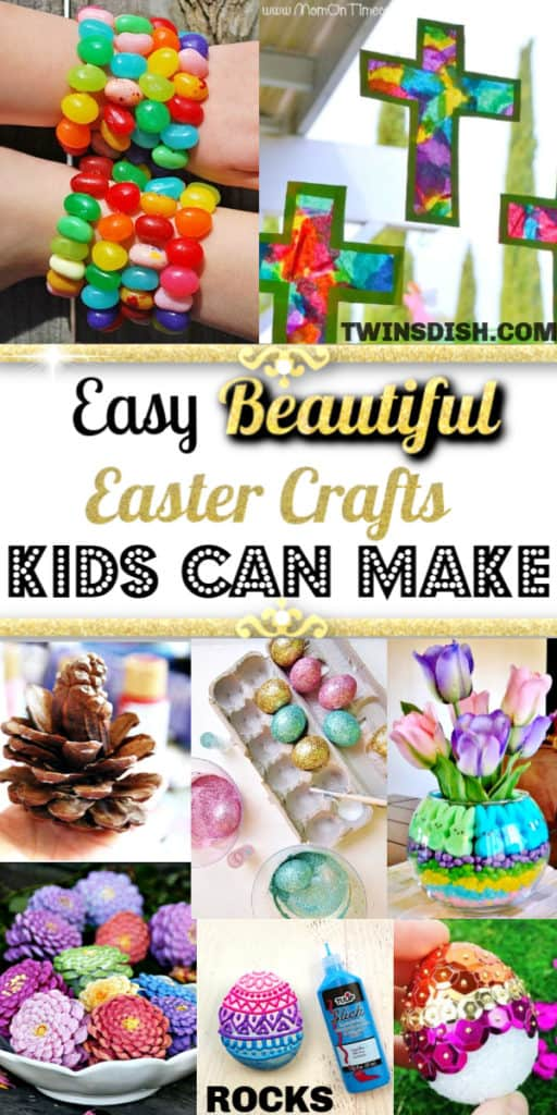 The Best Easy DIY Easter Crafts and Decorations Kids can make that are beautiful. Includes table settings, rustic farm house, centerpieces, eggs, and garland for both indoor and outdoor.