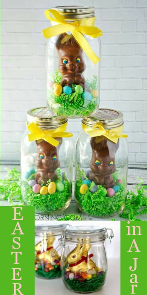 Easy DIY Easter in a mason Jar Bunny Dollar Store Easter craft idea for kids gifts and baskets. The Best Easy DIY Easter Decoration Ideas for Spring