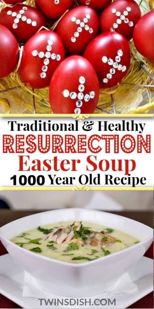 Best Traditional Christian Easter Dinner Soup Recipe symbolizing the resurrection of Jesus. #GreekEaster #MediterraneanDietRecipes #ChickenRecipes #Christian