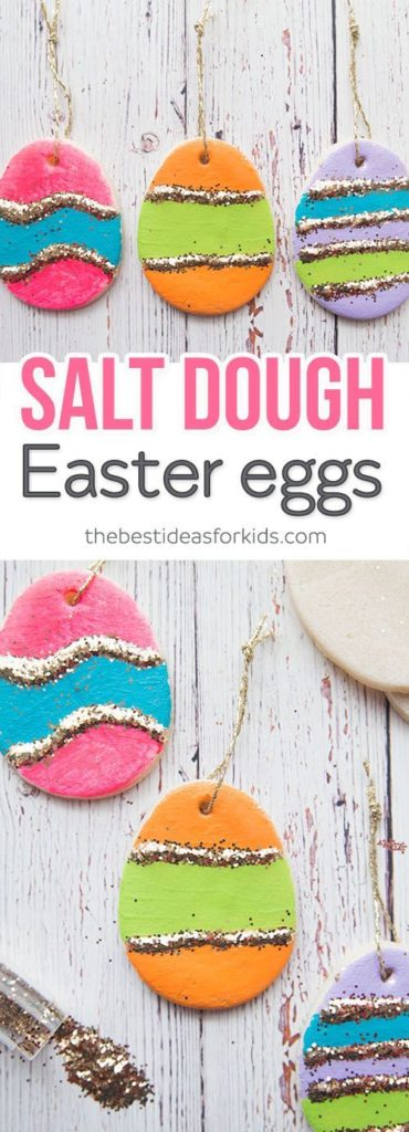 Easy DIY Salt Dough Easter Egg craft idea for kids. The Best Easy DIY Easter Decoration Ideas.