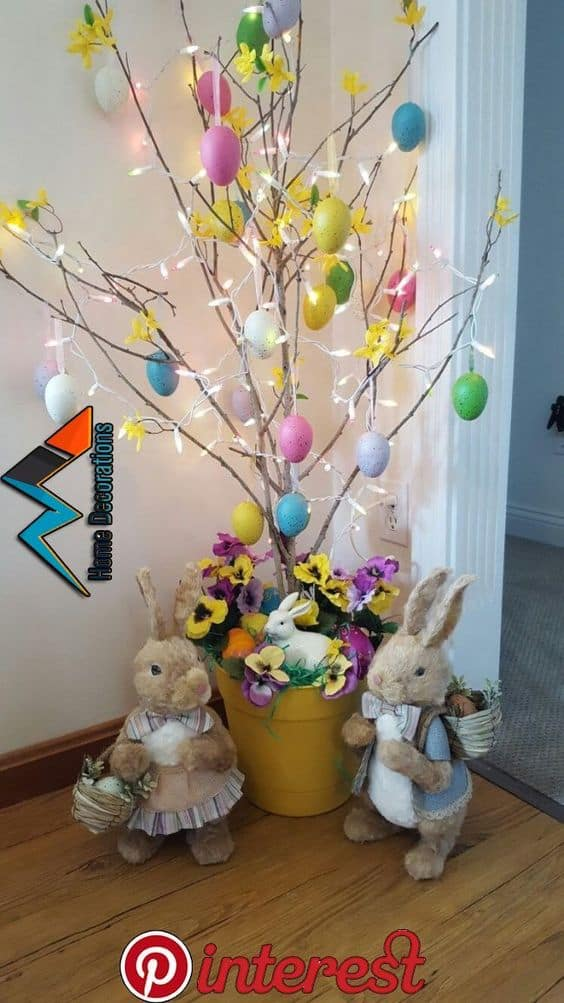Easy DIY Easter Tree craft idea for kids. The Best Easy DIY Easter Decoration Ideas for indoors and outdoors.
