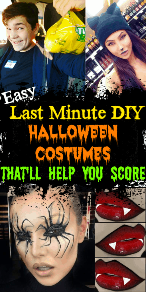 Easy DIY Last Minute Halloween Costumes and Make Up