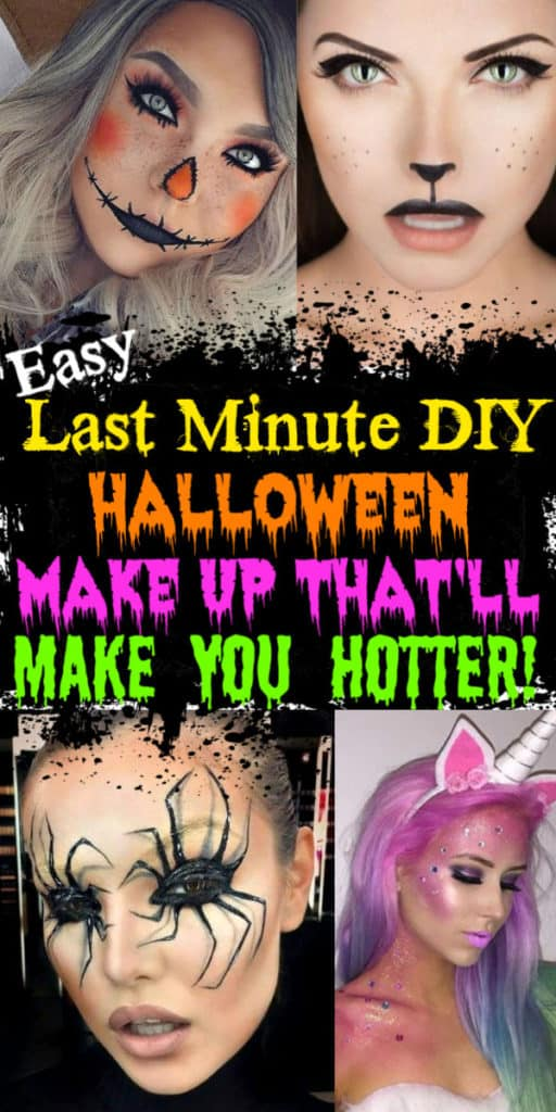 Gorgeous DIY Halloween make up costume ideas for women, couples, groups, and college.