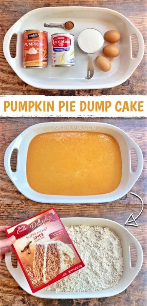 Easy Pumpkin Pie Dump Cake Fall Thanksgiving Dessert Recipe