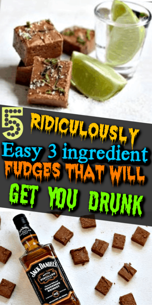 Perfect for the Holidays! Quick, Easy, 3 ingredient fudge recipes that will get you drunk. Strong but delicious. Perfect for Christmas parties, Christmas treats, DIY Christmas gifts, Christmas appetizers, New Years Eve appetizers, New years Eve treats, and even Birthdays