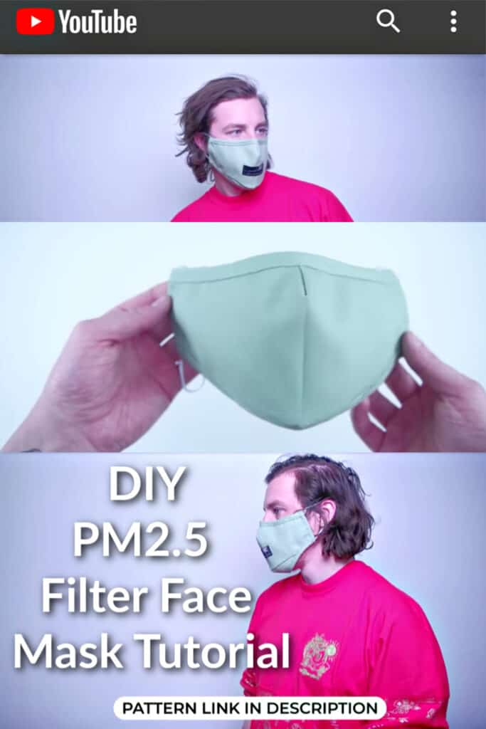 DIY Face Mask patterns and tutorials recommended by professionals including no sew and cricut.