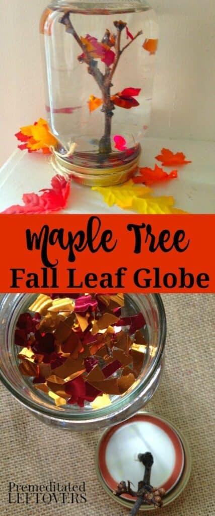 Fall Maple Leaf Globe Craft
