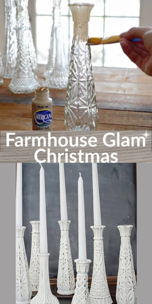 Super Easy DIY Rustic Farmhouse Glam Christmas Crafts and Home Decor Ideas That Look Store Bought. Budget Farmhouse Christmas tree idea and Rustic Christmas decorations or gift idea