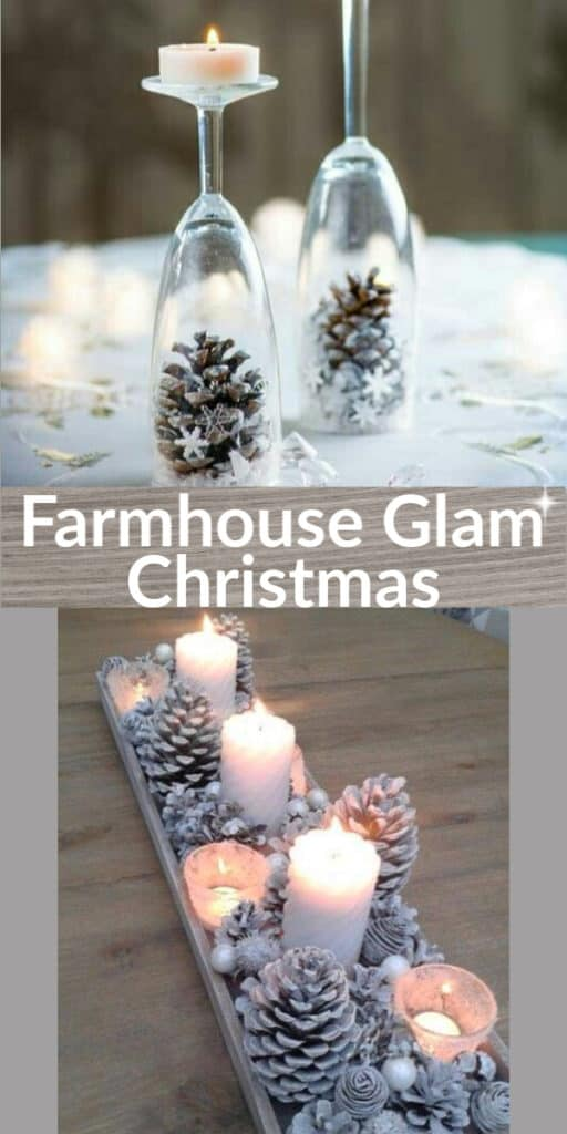 How to make: Easy DIY Christmas Decorations that cost nothing. Elegant Christmas or winter decoration, craft, or wedding centerpiece. Great Budget decor ideas for the home or party. #Christmas #Wedding #MantleDecorIdea