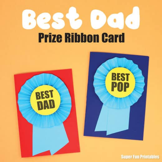 Prize Ribbon easy DIY Father's Day cards from kids