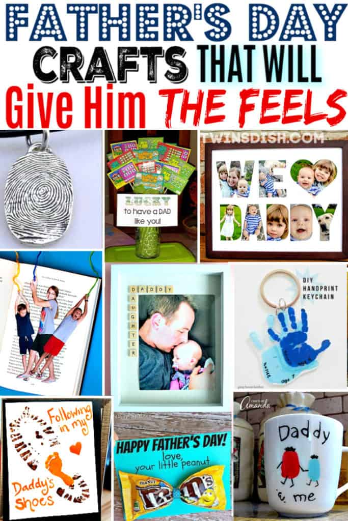 Easy DIY Father's Day crafts kids can make.
