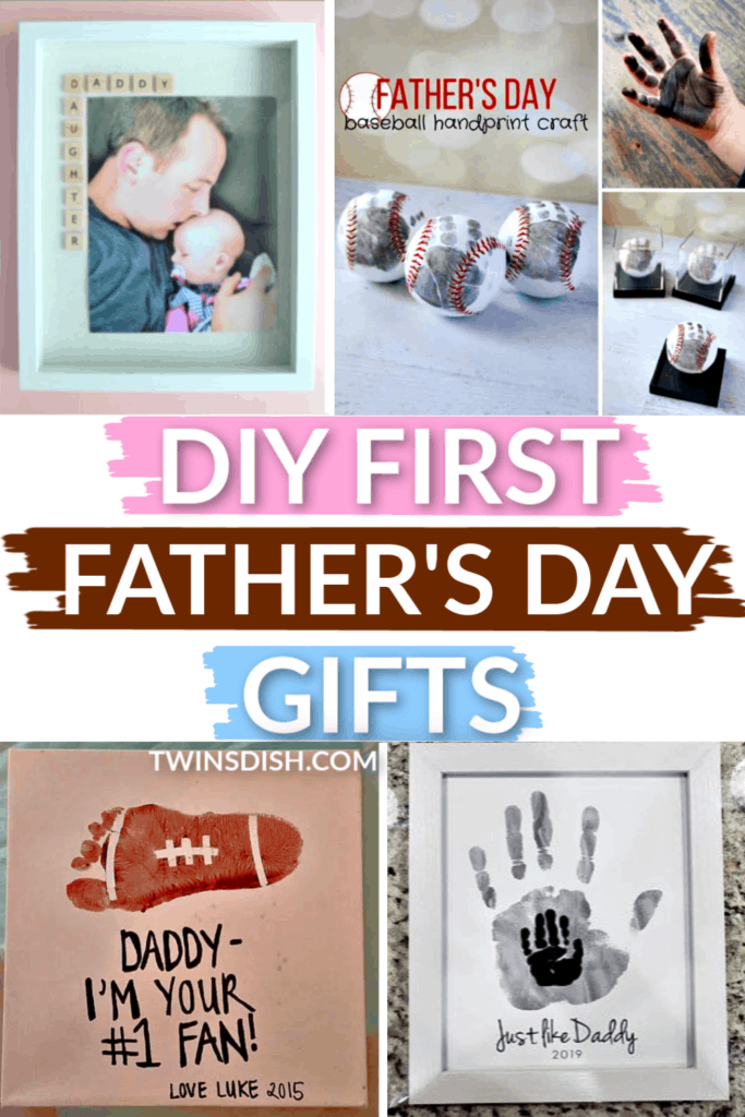 DIY First Father's Day gifts for Dad and Grandpa from kids